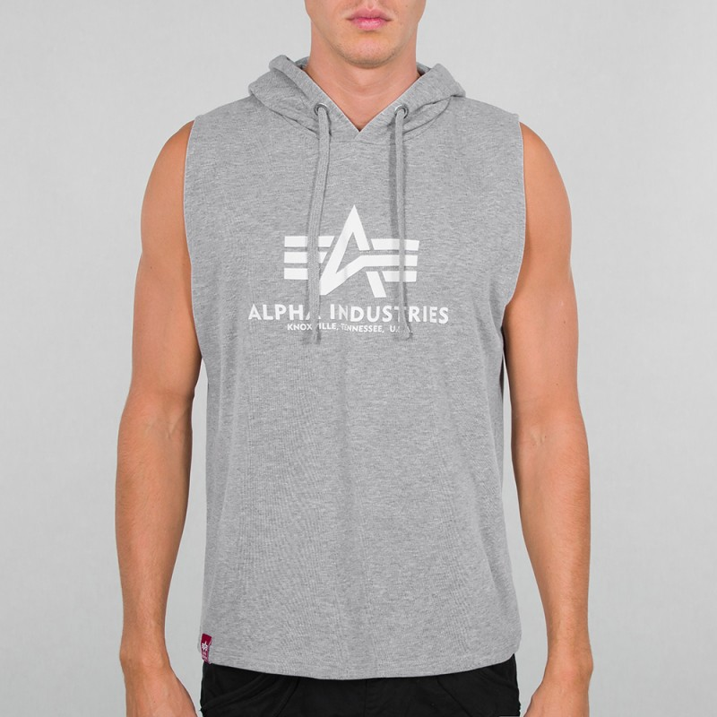 Basic Hooded Tank - greyheather
