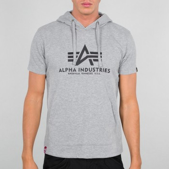 Basic T Hooded - greyheather