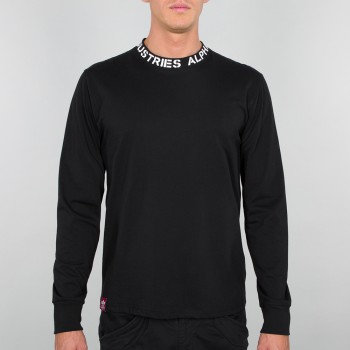 Neck Print LS - black