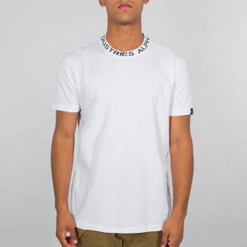 Neck Print T - white