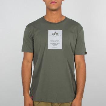 Reflective Label T - dark olive