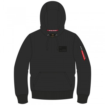 Rubber Patch Hoody - black