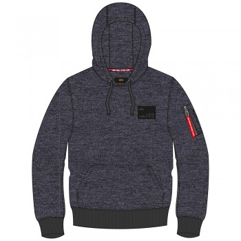 Rubber Patch Hoody - charcoal heather