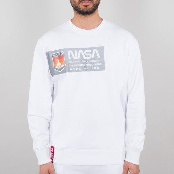 Mars Reflective Sweater - white