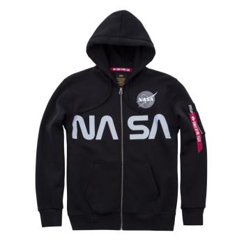 NASA Zip Hoody- black
