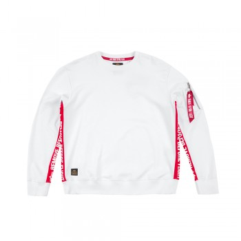RBF Inlay Sweater  - white