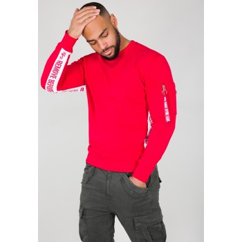 RBF Inlay Sweater  - speed red
