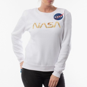 NASA PM Sweater Woman - white/gold