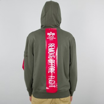 RBF Latex Print Hoody - dark olive