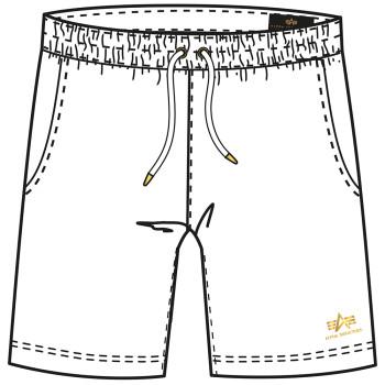 Basic Short SL Foil Print - white/yellow gold
