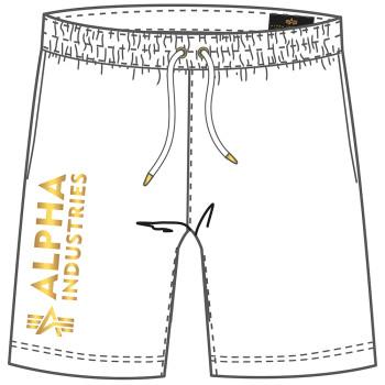 Basic Short AI Foil Print - white/yellow gold