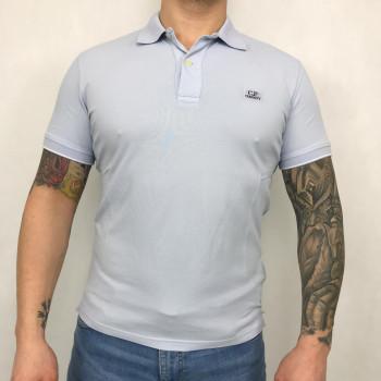 Garment Dyed Tacting Piquet Contrast Collar Polo Shirt - halogen blue