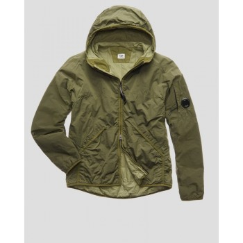 CR-L HOODED LENS ARM JACKET - BURNT OLIVE