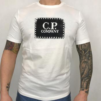 Jersey 30/1 Label Logo T-shirt - gauze white