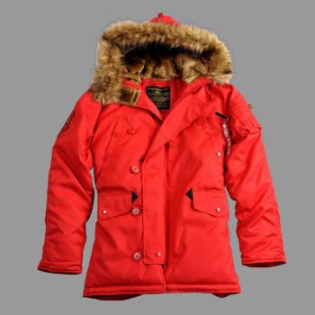 Explorer Woman real fur - speed red