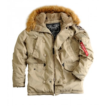 Explorer Woman real fur - khaki