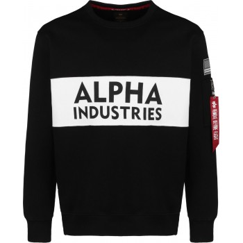 Alpha Inlay Sweater - black
