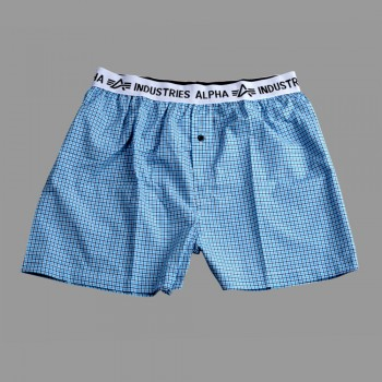 Bodywear Boxer Checked - blue
