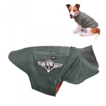 Dog MA-1 Nylon Flight Jacket - sage green