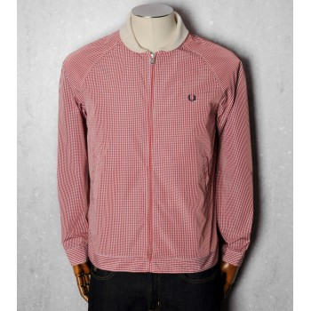 MICRO GINGHAM BOMBER - RED
