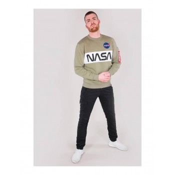 NASA Inlay Sweater - olive