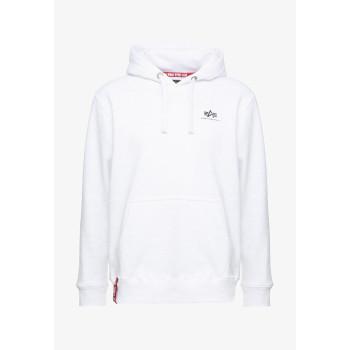 Basic Hoody Small Logo - white