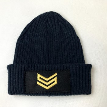 Commander Patch Beanie - navy