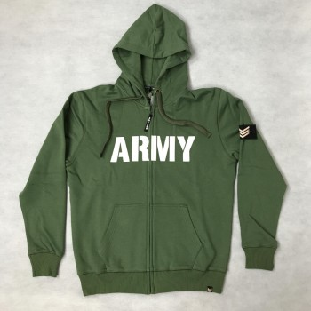 Army Zip Hoody - army green