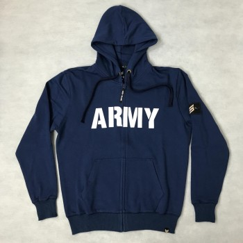Army Zip Hoody - navy