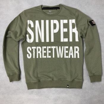 All Over Crew Neck - olive