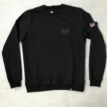 Rubber Logo Sweater - fekete