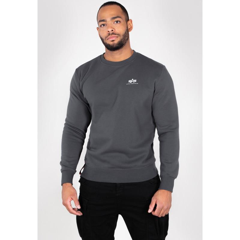 Basic Sweater Small Logo - greyblack