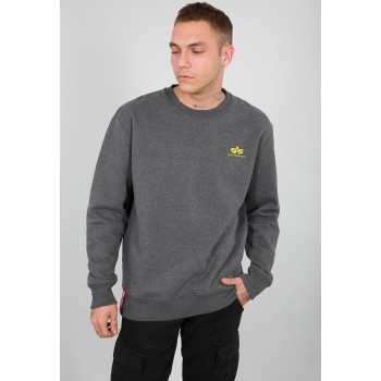 Basic Sweater Small Logo - charcoal heather