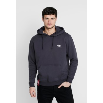Basic Hoody Small Logo - iron grey